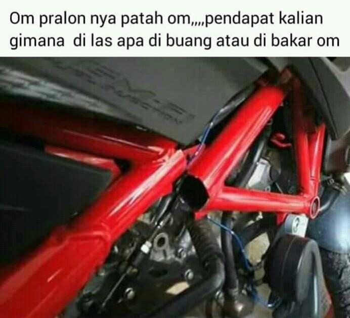 Sasis Honda CB150R Patah