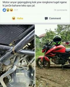 kasus sasis Honda CB150R patah
