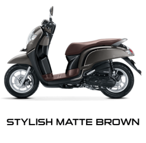 warna baru Honda Scoopy 2018 stylish matte brown
