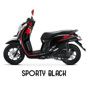 Warna baru Honda Scoopy 2018 sporty black