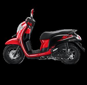 warna baru Honda Scoopy 2018 sporty red