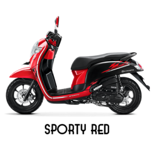 warna baru Honda Scoopy 2018 sporty red