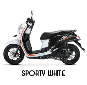 warna baru Honda Scoopy 2018 sporty white