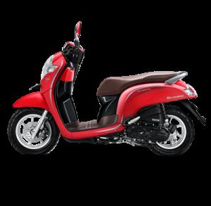 warna baru Honda Scoopy 2018 stylish matte red
