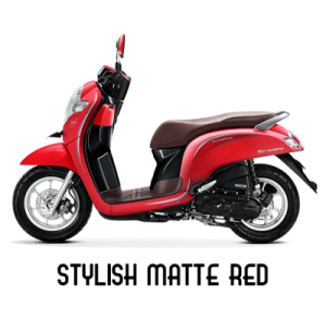 warna baru Honda Scoopy 2018 stylish matte red