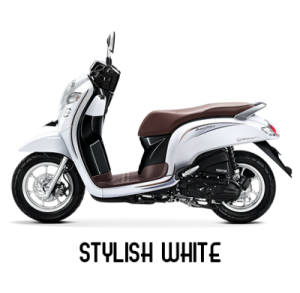warna baru Honda Scoopy 2018 stylish white