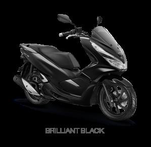 color All New Honda PCX 150 2018 black (brilliant black)