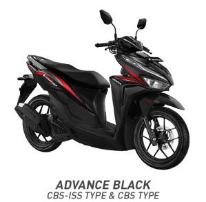 Warna All New Honda Vario 125 2018 Hitam (Advance Black)