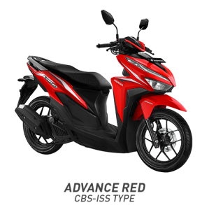 Warna All New Honda Vario 125 2018 CBS ISS Merah (Advance Red).