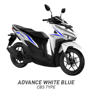 Warna All New Honda Vario 125 2018 putih biru ( advance white blue)