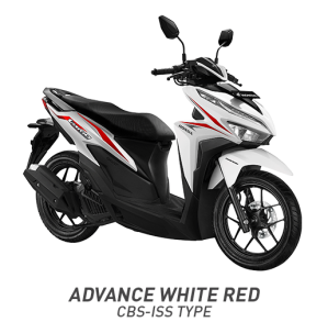 Warna All New Honda Vario 125 2018 CBS ISS Putih Merah (Advance White Red).