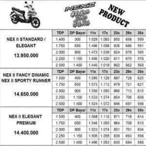 Harga Suzuki Nex II 2018 Facelift