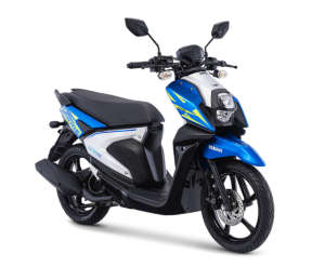 warna baru yamaha new xride 125 2018 Dynamic Blue (biru putih)
