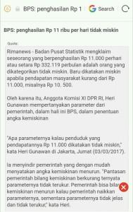 parameter kemiskinan indonesia BPS