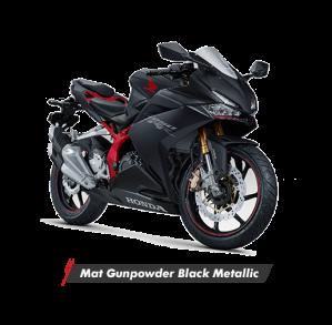 Warna Baru New Honda CBR250RR 2018Mat Gunpowder Black Metallic Hitam dof
