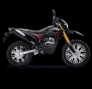 warna baru honda CRF150L 2019 hitam extreme black