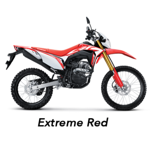 warna baru honda CRF150L 2019 merah extreme red