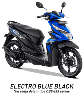 warna honda beat 2019 cbs iss blue black