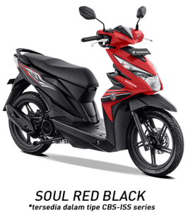 warna honda beat 2019 cbs iss red black