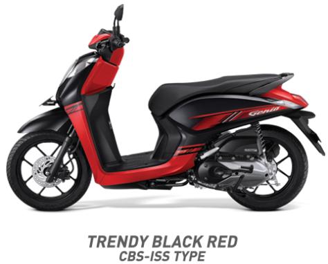 Warna Honda Genio 110 eSP 2019 cbs iss hitam merah