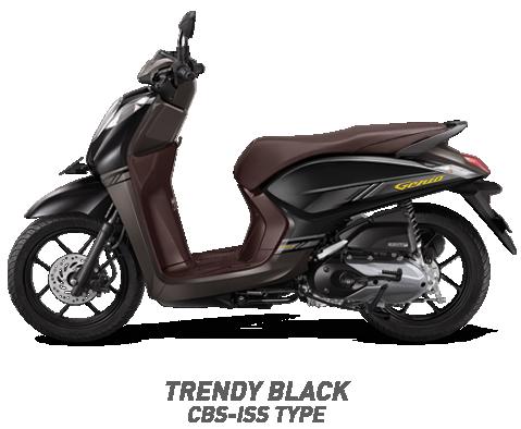 Warna Honda Genio 110 eSP 2019 cbs iss hitam