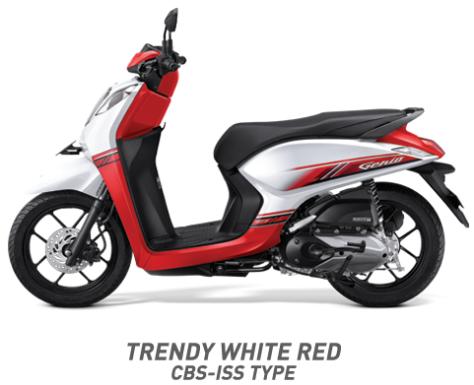Warna Honda Genio 110 eSP 2019 cbs iss merah putih