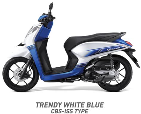 Warna Honda Genio 110 eSP 2019 cbs iss putih biru