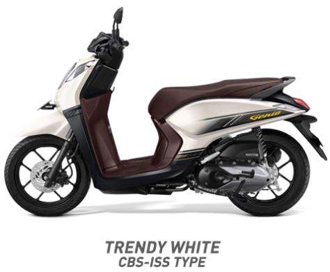 Warna Honda Genio 110 eSP 2019 cbs iss putih