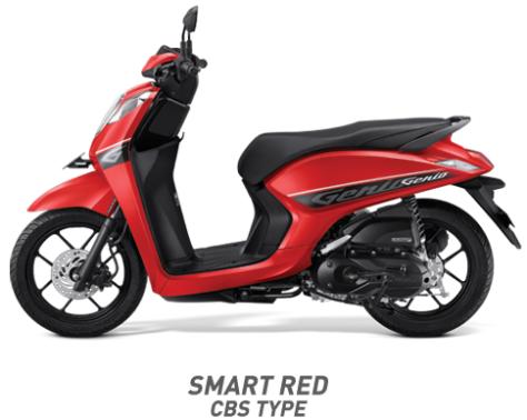 Warna Honda Genio 110 eSP 2019 cbs merah