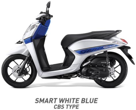 Warna Honda Genio 110 eSP 2019 cbs putih biru
