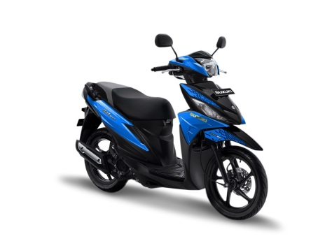 warna suzuki address 2019 playful biru blue