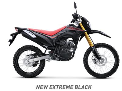 Warna baru Honda CRF150L 2020 Extreme Black