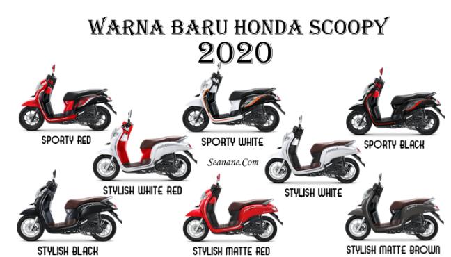 pilihan warna honda scoopy 2020