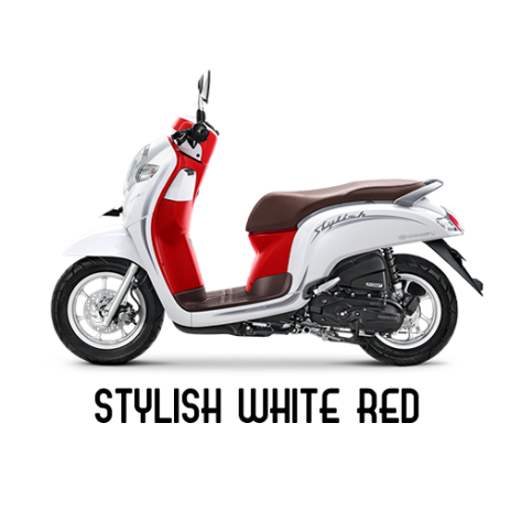 warna baru honda scoopy 2020 stylish merah putih