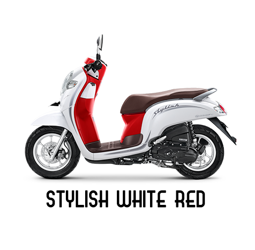 warna baru honda scoopy 2020 stylish merah putih